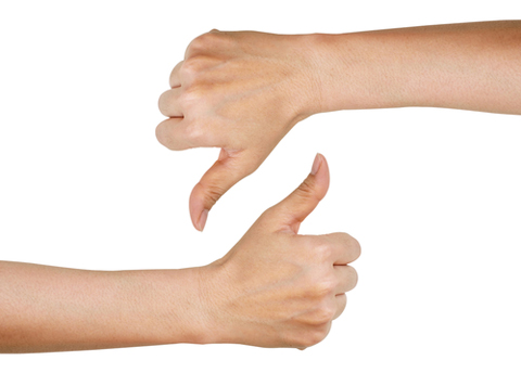 thumbs up thumbs down shutterstock 200581664
