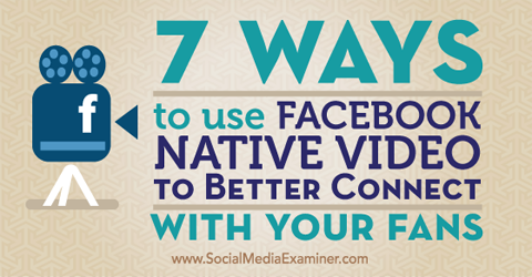 use facebook native video
