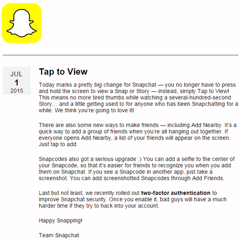 snapchat customer feedback changes