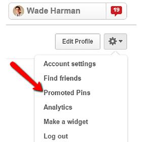 pinterest profile settings