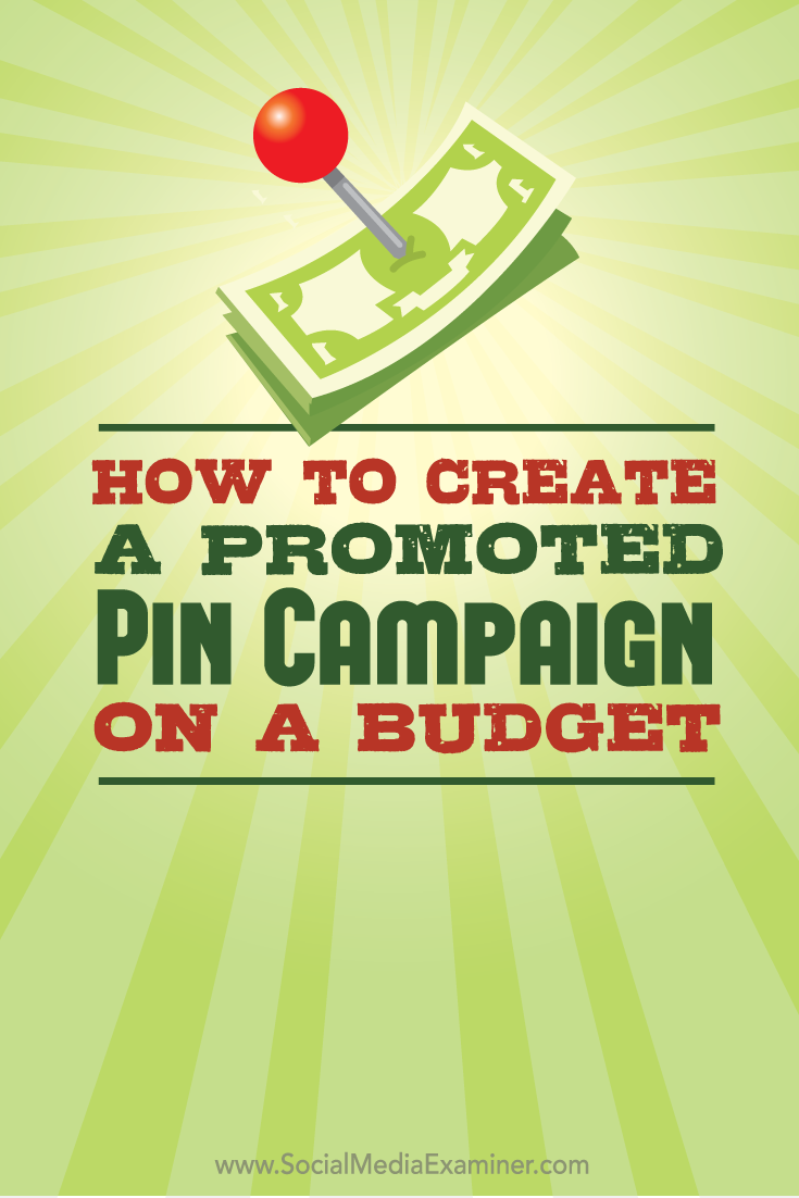 promoted pin campaign on a budget