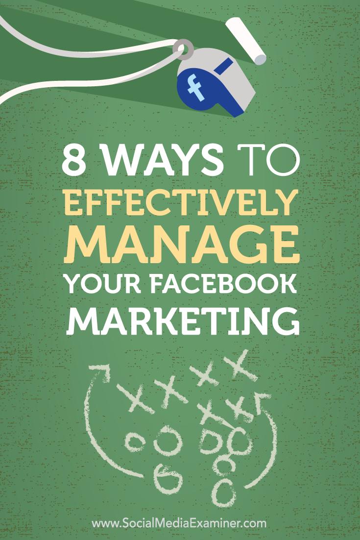 manage facebook marketing