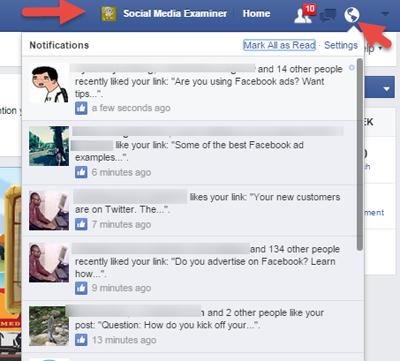 Facebook no notifications