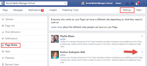 page admin review