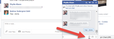 send money option in facebook desktop