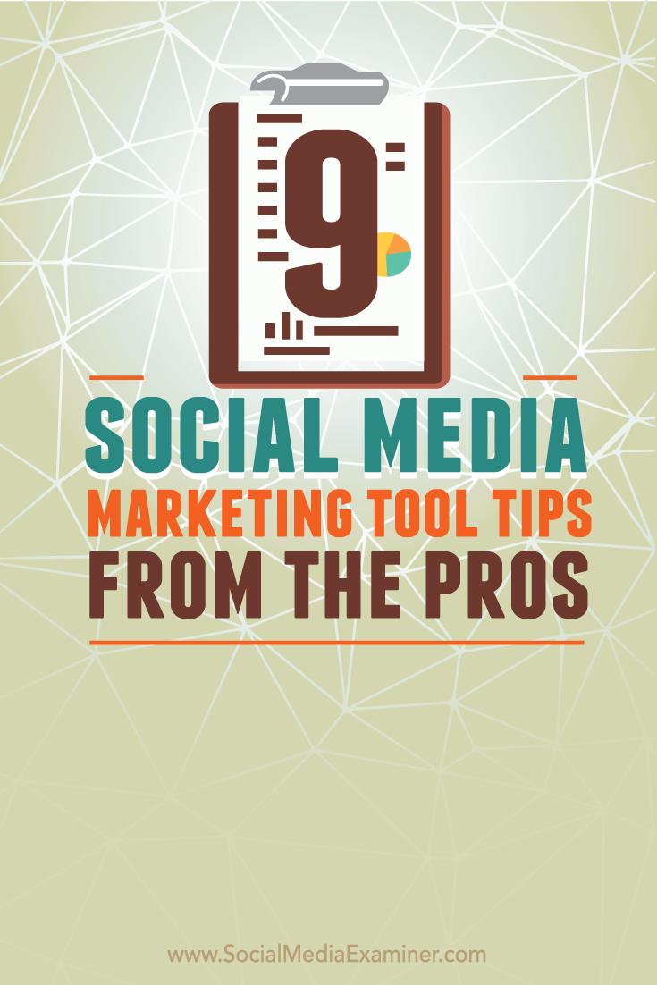 nine social media tool tips