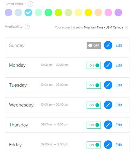 calendarly custom time slot