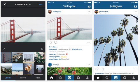 instagram portrait and landscape images