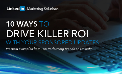 linkedin ebook sponsored update roi