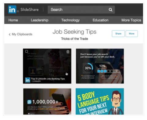 linkedin slideshare clipping tool