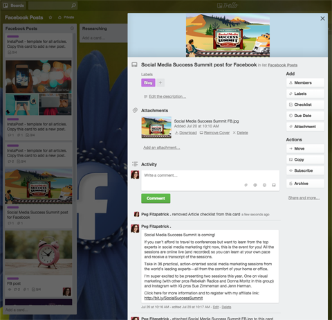 trello expanded content