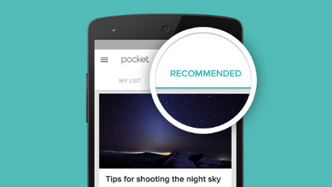 pocket app recommendation feature