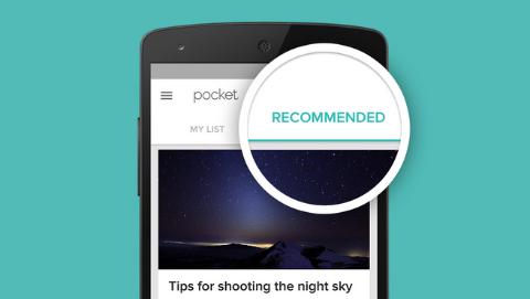 pocket app recommendation feature