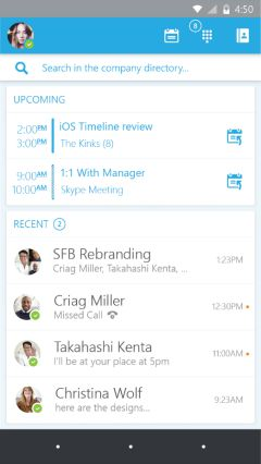 skype for business app preview