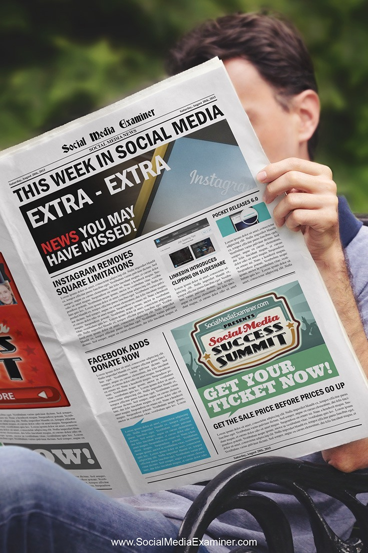 social media examiner weekly news august 29 2015