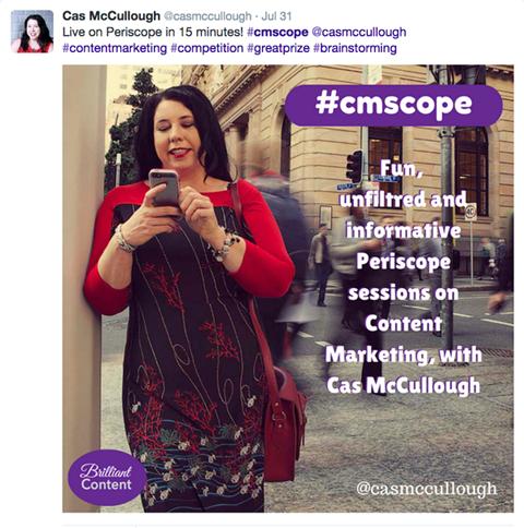periscope broadcast promotion post