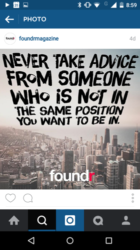 foundr instagram post
