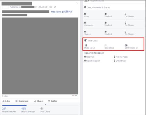 post analytics example