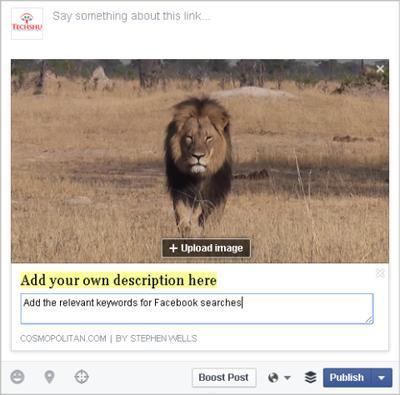editing meta in facebook post example
