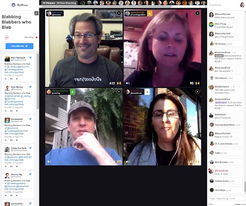 full screen view of a blab
