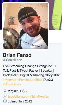 twitter bio hashtag example