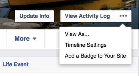 facebook timeline settings example