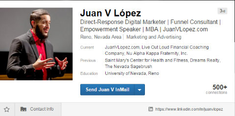 linkedin header example