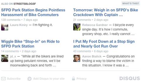 disqus comment system recommended stories example