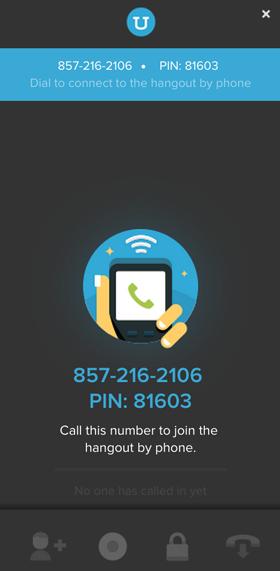 google+ hangouts uberconference options
