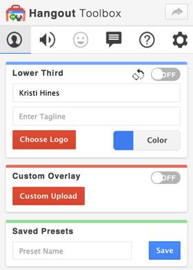 google+ hangouts toolbox options
