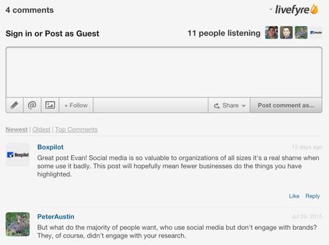 livefyre comment system example