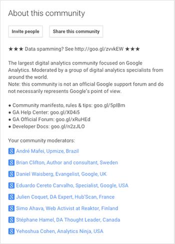 google+ community rules