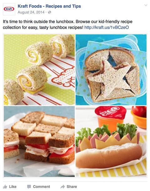 kraft foods facebook post