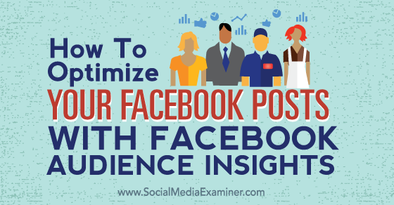 How to Optimize Your Facebook Posts With Facebook Audience Insights