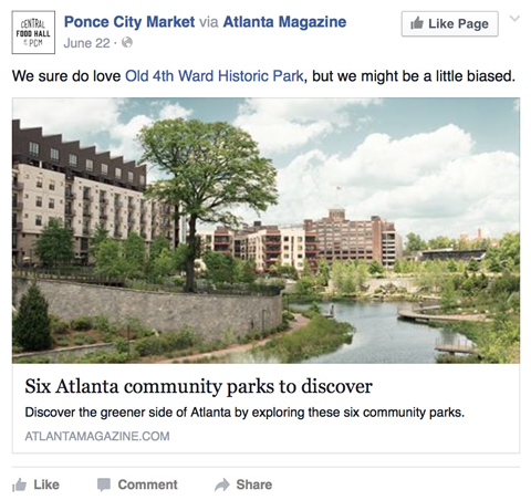 ponce city market facebook post