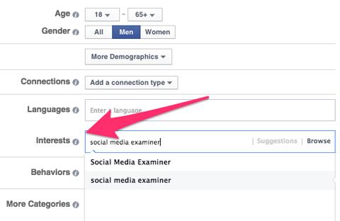 Interest Targeting Facebook Interests Targeting