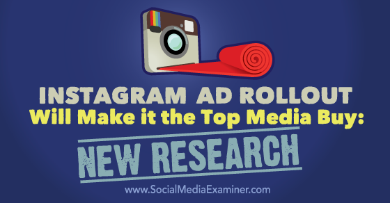 Instagram Ad Rollout Will Make It the Top Media Buy: New Research