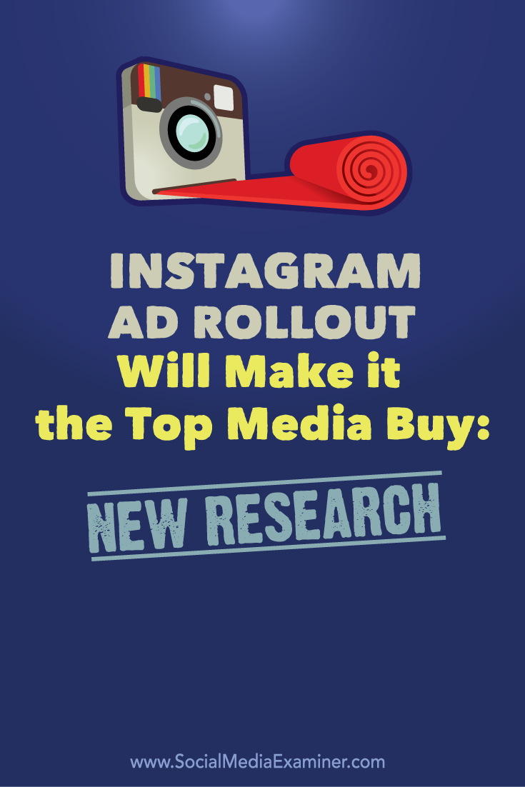 instagram ad rollout media buy research