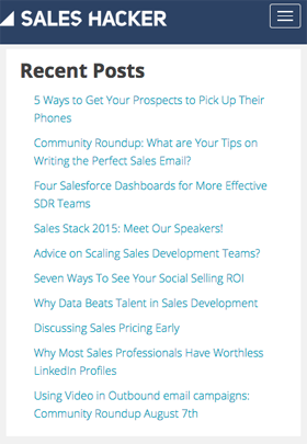 sales hacker blog posts