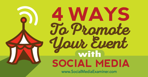 promote your event with social media