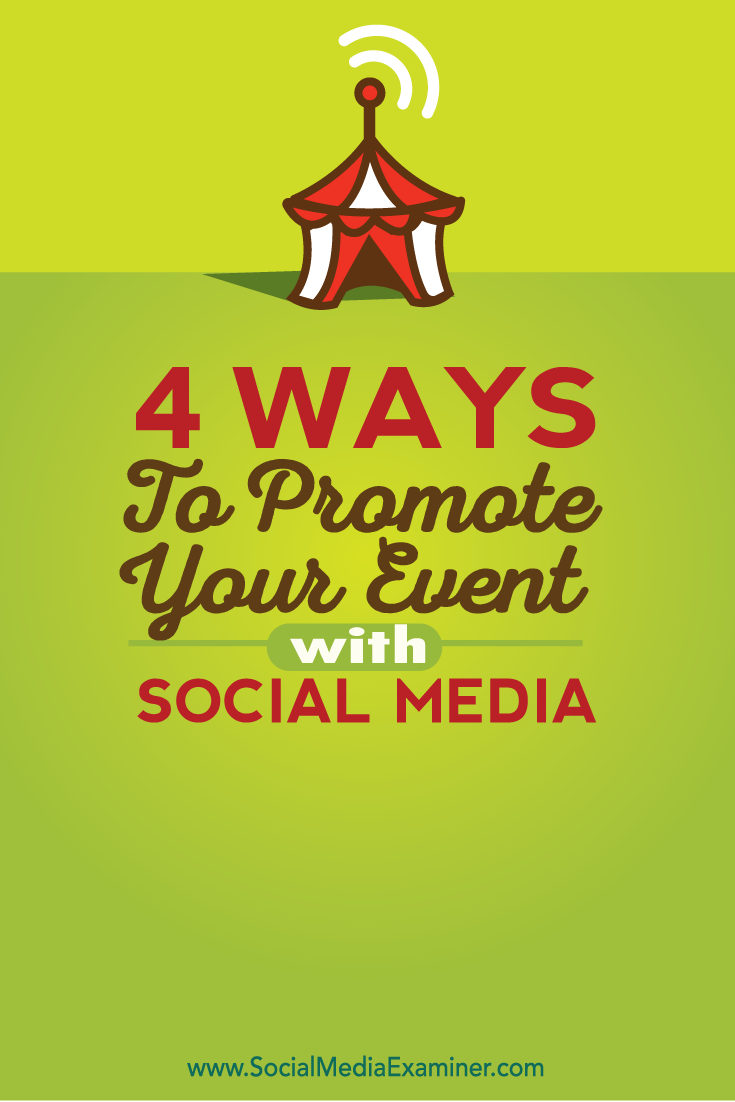 how to promote your events with social media