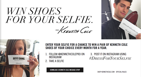 kenneth cole selfie contest image