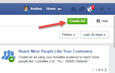 facebook ads manager ad creation