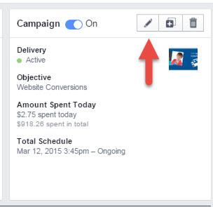 facebook ads manager column preset