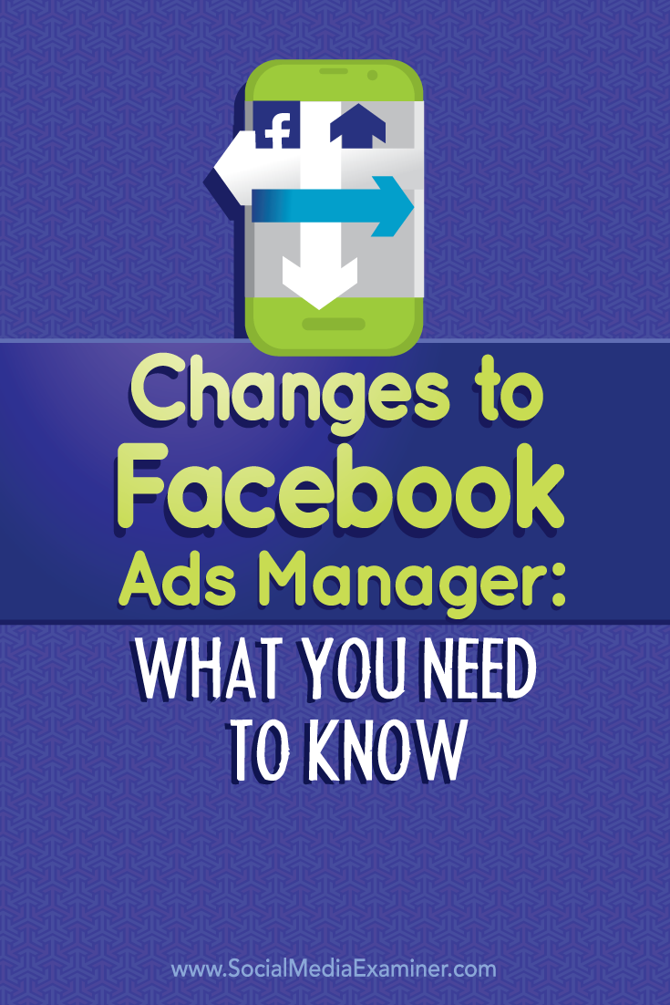 changes to facebook ads manager