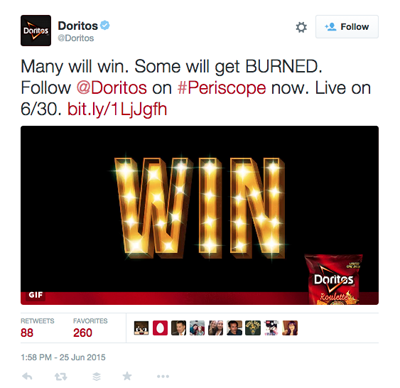 doritos twitter periscope tweet