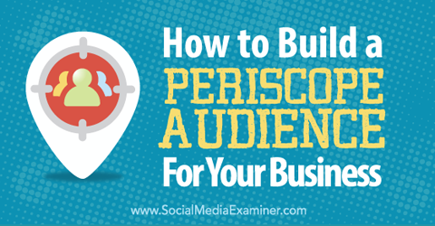 How to Build a Periscope Audience for Your Business : Social