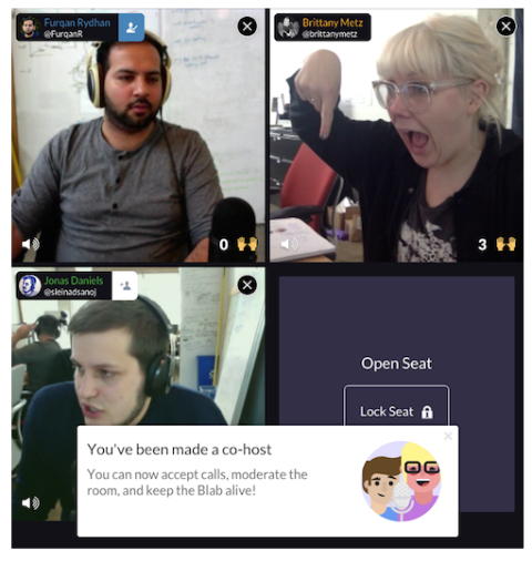 blab cohost feature