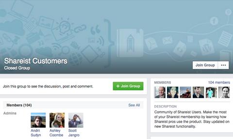 shareist facebook group