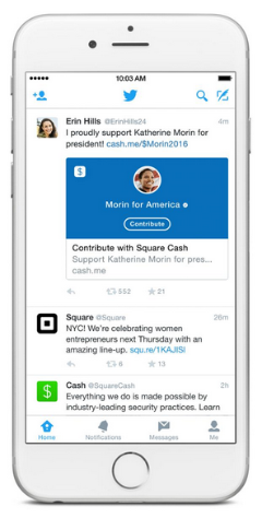 twitter and square enable political donations